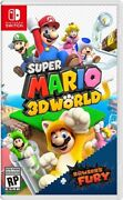 Super Mario 3d World + Bowser's Fury - Nintendo Switch Game - Free Shipping