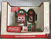 Coca-cola Town Square Collection Toy Land Lighted Village Building Coke New