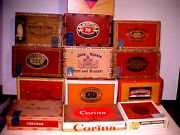Vintage Rare Cigar Box Lot Of 13 - White Owl, Phillies, Ruskin, Cleopatra, Look