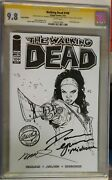 The Walking Dead 109 Sketch Variant Signed Cgc Graded 9.8