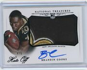 2014 National Treasures Brandin Cooks Hats Off Patch And Auto 4/6 Es