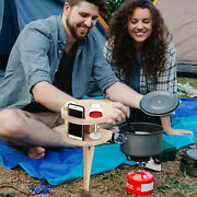 Beach Camping Stake Wine Table Picnic Table Beer Wine Glasses And Bottle Table