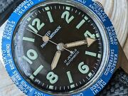 Vintage Paul Portinoux World Time Diver W/warm Patinaall Ss Casetropic Band