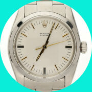 1982 Vintage Rolex Oyster Precision 6426 Watch Stainless Steel Mechanical 34 Mm