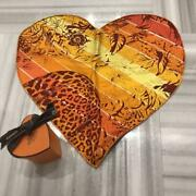 Authentic Hermes Heartshaped Pocket Chief Free Shipping No.6314
