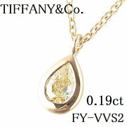 And Co. By The Yard Necklace Yellow Diamond 0.19ct Fy-vvs2-pear No.6093