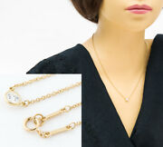 And Co. By The Yard Diamond 18k Yellow Gold Pendant Necklace No.5376