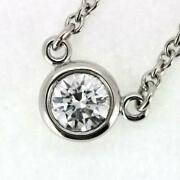 Sale And Co. By The Yard Diamond Necklace 4.5mm Pt950 No.4008