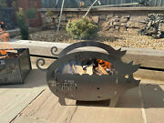 The Fire Pig Pit Bbq Log Burner Outdoor Seating Fire Show Display Floor Camping