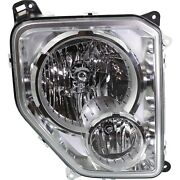 Headlight For 2008-2012 Jeep Liberty Right Chrome Housing With Fog Light Capa