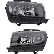 Headlight Set For 2014-2015 Chevrolet Camaro Left And Right With Bulb Capa 2pc