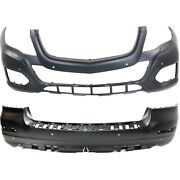 2048802249, 2048800949 New Bumper Covers Facials Set Of 2 Front And Rear Pair