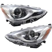 Headlight For 2015-2017 Toyota Prius C Pair Driver And Passenger Side