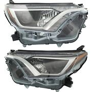Headlight Set For 2016-2018 Toyota Rav4 Se Le Limited Xle Left And Right 2pc
