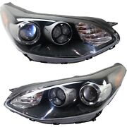 Headlight For 2017-2019 Kia Sportage Pair Driver And Passenger Side