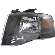 Headlight For 2007-2014 Ford Expedition Left Blacked Out With Bulb