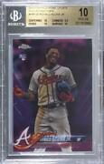 2018 Topps Chrome Update Pink Refractor Ronald Acuna Jr Bgs 10 Pristine Rookie