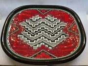 Clay Mesa 17 Inch Native American Red Decorative Wall Plate By Richard St. John