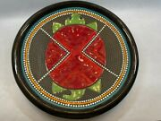 Clay Mesa 12 Inch Native American Red Decorative Wall Plate By Richard St. John