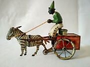 Antique Lehmann Windup Tin Litho Toy Germany, Pat. 1881- Works