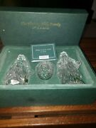 The Holy Family Joseph, Mary Jesus Marquis Waterford Crystal Nativity Collection