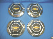 Set Of 4 1969-75 Chevy C10 Truck Dog Dish Hubcaps 10-1/2