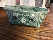 """Vintage Green Brush Planter 401 1900s Antique Usa Early Mccoy Pottery 10.5"""""""