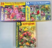 Lot Of 3 Springbok Puzzles To Remember 36 Pc Ea Candygoldfinchmore Birds