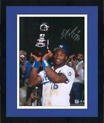 Framed Bo Jackson Kc Royals Signed 16 X 20 1989 Asg Photo And Inscs - Sm Le 10