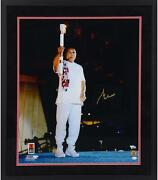 Muhammad Ali Frmd Signed 20 X 24 1996 Olympic Torch Photo - Suede Matting