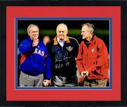 Frmd Nolan Ryan Texas Rangers Signed 16x20 With Presidents Photo And Hof 99 Insc