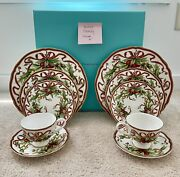 2 And Co 5 Piece Holiday China Place Settings New In Box 10 Pieces