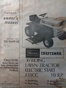 Sears Craftsman 10 H.p Lawn Tractor And 36 Mower Owner And Parts Manual 131.969930