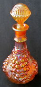 Imperial Marigold Carnival Imperial Grape Decanter, 11 3/4 H.