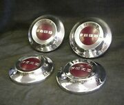 Set Of 4 Ford 52 53 54 Poverty Hubcaps Car And Truck 1952 1953 1954 Hot Rat Rod