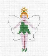 Tinker Bell From Peter Pan Handpainted Needlepoint Canvas Ornament By Petei
