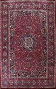 Antique Vegetable Dye Mood Hand-knotted Area Rug Floral Oriental Over Size 11x15