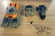 Vintage 1989 Xpanders Lot Tank Car And Cycle Galoob