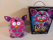 2012 Hasbro Furby Boom Electronic Interactive Toy Teal Pink Hearts Tested Works
