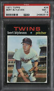 1971 Topps Bert Blyleven Rc 26 Psa 7.5 Pwcc-a Top 30 Rare Find Rookie