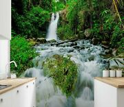 3d White Waterfall Forest Ke1776 Wallpaper Mural Self-adhesive Removable Sticker