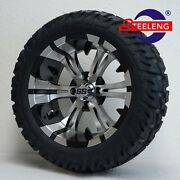 Golf Cart 15x7 Machined Vampire Wheels And 23x10-15 Dot Gator A/t Tires