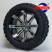 Golf Cart 15x7 Machined Tempest Wheels And 23x10-15 Dot Gator A/t Tires