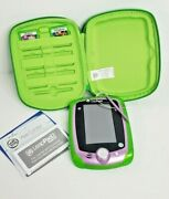 Leapfrog Leap Pad 2 Purple System Tested Stylus Case 2 Games Lot No Charger