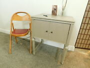 1930s Gothic Antique Table Sewing Radio Desk Hallway Console Jacobean Paintd