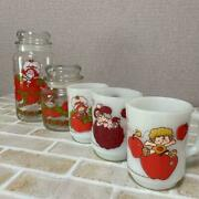 Strawberry Shortcake Fire King Canister Candy Pot 5 Set 2