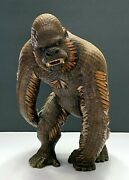 Vintage Chinese Lacquered Woven Bamboo Model Of A Gorilla Monkey Figure