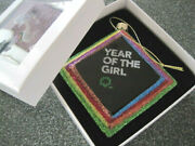 New Girl Scout Ornament Year Of The Girl Glass Collectible Gift Nib