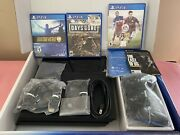 Sony Playstation 4 Slim 500gb Black Ps4 W/box Controller Cables 3 Games Manual
