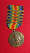 Ww1 Us Victory Medal With 5 Bars